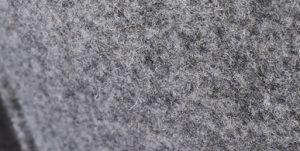 svuotatasche in feltro grigio tweed