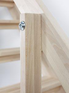 dettaglio corrimano in legno