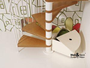 accessorio sottoscala in legno