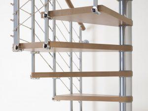 dettaglio gradini scala a chiocciola