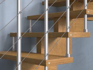 dettaglio scala a rampa
